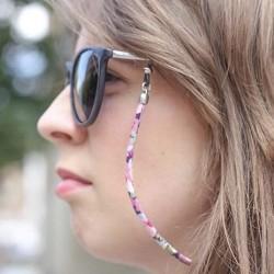 Colgador de gafas flores cordón grueso