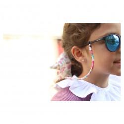 Colgador de gafas cordón flores niña