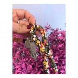 Llavero nudo flores -Varios estampados