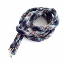 Cinturón escocés cuadros azules y marrón
