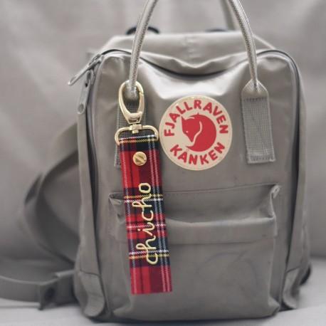 Llavero/adorno bolso escocés personalizado