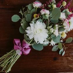 Chapa ramo de novia + cinta lisa